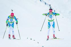Miha Dovzan of Slovenia and Alex Cisar of Slovenia during Slovenian National Cup in Biathlon, on December 30, 2017 in Rudno polje, Pokljuka, Slovenia. Photo by Ziga Zupan / Sportida