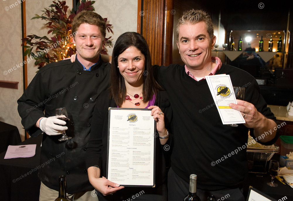 Chef Josh Cushman and owners Maura and Mark McAuliffe of the Raven's Nest at Flavors of Neponset Valley 2011