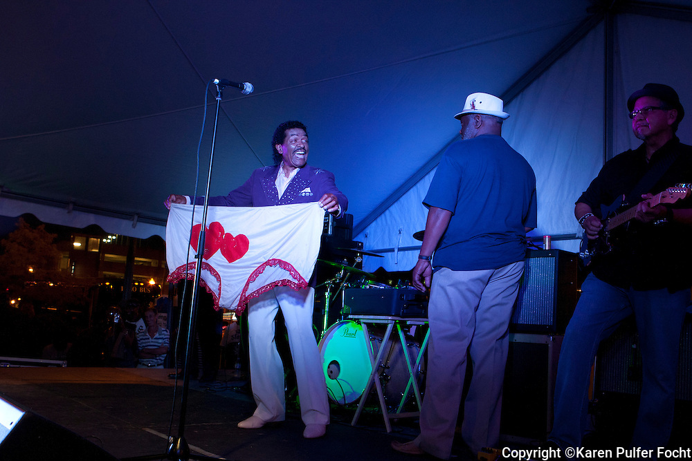 """Bobby Rush, who spent much of his life performing not the """"Chitlin Circuit"""", is  one of the last great entertainers left from his era. He frequently performs at the Memphis music and Heritage Festival. These pictures were taken in 2015."""