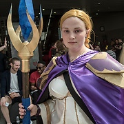 London, UK. 26 May, 2018. People in customs of their favourites Cosplay attending London - MCM Comic Con event and having a good time held at Excel London.