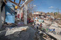 October 7, 2016 - Port Salute, Haiti - Damaged houses in town of Port Salute that was badly effected by hurricane Matthew, on October 7, 2016. Hurricane Matthew killed almost 900 people and displaced tens of thousands in Haiti before plowing northward on Saturday just off the southeast U.S. coast, where it caused major flooding and widespread power outages. (Credit Image: © Bahare Khodabande/NurPhoto via ZUMA Press)