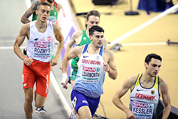 Great Britain's Guy Learmont in the 800m Men Heat 2 during day one of the European Indoor Athletics Championships at the Emirates Arena, Glasgow.
