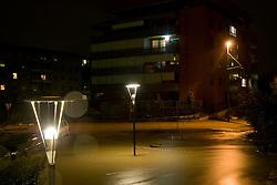Street full of water after heavy rain on September 18, 2010, in Ljubljana, Slovenia. (Photo by Matic Klansek Velej / Sportida)