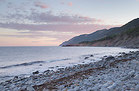 Cobblestone beach, Cape Breton Highlands National Park, Cape Breton Island Nova Scotia