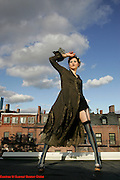(Boston Most Stylish 25) Boston, Ma  10/06/06  Amanda Palmer (cq) a member of the group Dresden Dolls is among the  Boston Globe's 25 Most Stylish people. She was photographed on Oct. 06, 2006 at her South End apartment.(Suarez, Essdras M/Globe staff)/Living Arts.