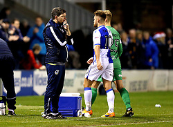 Bristol Rovers manager Darrell Clarke looks frustrated after seeing his side lose 2-0 at Shrewsbury Town - Mandatory by-line: Robbie Stephenson/JMP - 17/12/2016 - FOOTBALL - Greenhous Meadow - Shrewsbury, England - Shrewsbury Town v Bristol Rovers - Sky Bet League One