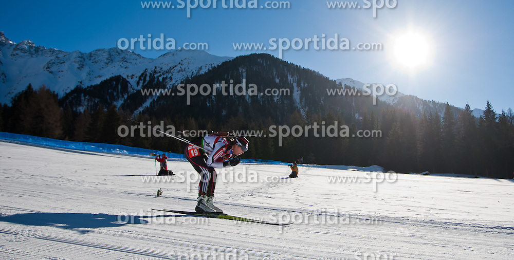 22.01.2011, Südtirol Arena, Antholz, ITA, IBU Biathlon Worldcup, Antholz, Relay Women, im Bild In-Hee Jo (KOR) // In-Hee Jo (KOR) during IBU Biathlon World Cup in Antholz, Italy, EXPA Pictures © 2011, PhotoCredit: EXPA/ J. Feichter