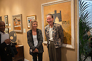 GAY HUTSON; ANGELA WYNN; , 20/21 British Art Fair. Celebrating its 25 Anniversary. The Royal College of Art . Kensington Gore. London. 12 September 2012.