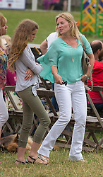 Image ©Licensed to i-Images Picture Agency. 01/08/2014. , United Kingdom. Festival of British Eventing. Gatcombe.  Autumn Phillips with friends.Picture by i-Images