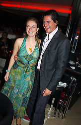 LADY SYBILLA RUFUS-ISAACS and EDWARD TAYLOR at a night of Cuban Cocktails and Cabaret hosted by Edward Taylor and Charles Beamish at Floridita, 100 Wardour Street, London W1 on 14th April 2005.<br />