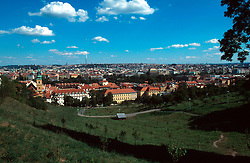 CZECH REPUBLIC PRAGUE JUL97 - General view of the Petrin Gardens overlooding Prague.. . jre/Photo by Jiri Rezac. . © Jiri Rezac 1997. . Tel:   +44 (0) 7050 110 417. Email: info@jirirezac.com. Web:   www.jirirezac.com