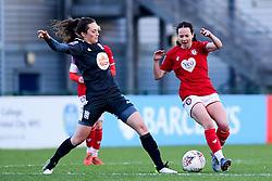 Olivia Chance of Bristol City is challenged by Chloe Arthur of Birmingham City Women - Mandatory by-line: Ryan Hiscott/JMP - 08/12/2019 - FOOTBALL - Stoke Gifford Stadium - Bristol, England - Bristol City Women v Birmingham City Women - Barclays FA Women's Super League