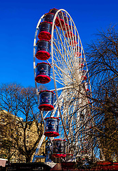 Edinburgh's Christmas 2019: The big wheel in Princes Street Gardens attracts customers throughout the Christmas Season.