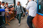 Leeds United midfielder Kalvin Phillips (23) arriving during the EFL Sky Bet Championship match between Leeds United and Brentford at Elland Road, Leeds, England on 21 August 2019.