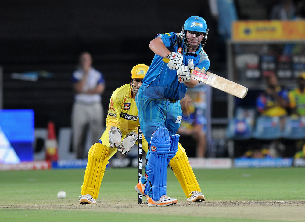 Jesse Ryder of Pune Warriors India bats during match 16 of the Indian Premier League ( IPL) 2012  between The Pune Warriors India and the Chennai Super Kings held at the Subrata Roy Sahara Stadium, Pune on the 16th April 2012..Photo by Pal Pillai/IPL/SPORTZPICS