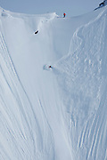 "Craig Branch on ""Chunky Mother Funker"" at Points North Heliskiing in Cordova Alaska. MR"