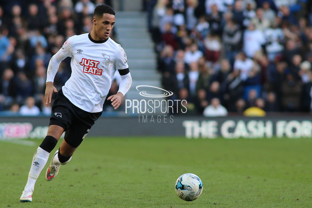 Derby County midfilder Tom Ince (23) during the Sky Bet Championship match between Derby County and Birmingham City at the iPro Stadium, Derby, England on 7 March 2015. Photo by Aaron Lupton.
