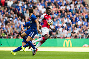 Arsenal forward Danny Welbeck (23), Chelsea (4) Cesc Fàbregas during the FA Community Shield match between Arsenal and Chelsea at Wembley Stadium, London, England on 6 August 2017. Photo by Sebastian Frej.