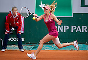 Agnieszka Radwanska of Poland competes in women's single while Day Fourth during The French Open 2013 at Roland Garros Tennis Club in Paris, France...France, Paris, May 29, 2013..Picture also available in RAW (NEF) or TIFF format on special request...For editorial use only. Any commercial or promotional use requires permission...Mandatory credit:.Photo by © Adam Nurkiewicz / Mediasport