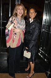 Left to right, SAHAR HASHEMI and SARAH MANLEY at a party to celebrate the re-launch of the Polo bar at The Westbury Hotel, Bond Street, London W1 on 26th April 2005.<br /><br />NON EXCLUSIVE - WORLD RIGHTS