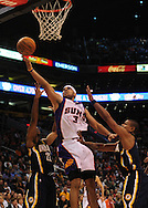 Mar. 6 2010; Phoenix, AZ, USA;  Phoenix Suns forward Jared Dudley (3) puts up a shot in the second half at the US Airways Center. The Suns defeated the Pacers 113 to 105. Mandatory Credit: Jennifer Stewart-US PRESSWIRE.