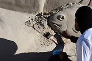 20180128/ Nicolas Celaya - adhocFOTOS/ URUGUAY/ CANELONES/ MARINDIA/ Castillos en la Arena, encuento de esculturas en arena en Marindia. <br /> En la foto: Castillos en la Arena, encuento de esculturas en arena en Marindia.    Foto: Nicol&aacute;s Celaya /adhocFOTOS