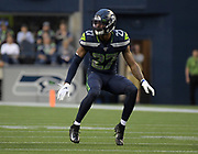 Aug 8, 2019; Seattle, WA, USA; Seattle Seahawks defensive back Marquise Blair (27) in the first half against the Denver Broncos at CenturyLink Field. The Seahawks defeated the Broncos 22-14.