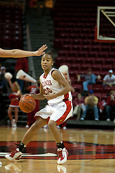 13 November 2005:  Tiffany Hudson fakes to the side. With a final score was 93-58, the Illinois State University Redbirds overcome the Bearcats of Northwest Missouri State in an exhibition match up Sunday afternoon at Redbird Arena in Normal Illinois.  The final score was 93-58.