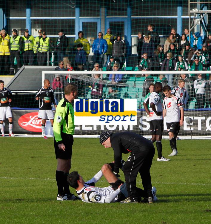 Fotball , 1. april 2012, Tippeligaen Eliteserien , Sogndal - H&oslash;nefoss<br /> (M) Jasmin Mecinovic Sogndal<br /> Foto: Christian Blom , Digitalsport