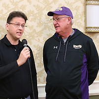 SALEM, VA - DECEMBER 13: during Stagg Bowl 45 media day at the Salem Civic Center on December 13, 2017 in Salem,VA. (Photo by Larry Radloff, d3photography.com)