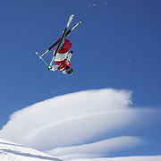 Gus Kenworthy, USA, in action during his third place finish in the Men's Halfpipe Finals during The North Face Freeski Open at Snow Park, Wanaka, New Zealand, 3rd September 2011. Photo Tim Clayton...