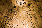 Terracotta figures at the Han Dynasty Tomb of Han Yang Ling, Xian, China