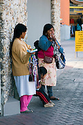 Mexico female beggars selling to tourists , Ensenada