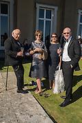NEVILLE CONRAD; CAROL CONRAD; CHARLOTTE WARSHAW; SIMON WARSHAW, , Opening of Grange Park Opera, Fiddler on the Roof, Grange Park Opera, Bishop's Sutton, <br /> Alresford, 4 June 2015