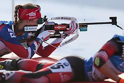 11.03.2016, Holmenkollen, Oslo, NOR, IBU Weltmeisterschaft Biathlon, Oslo, 4x6 Km Staffel, Damen, im Bild Fanny Horn Birkeland (NOR) // during 4x6 km women relay of the IBU World Championships, Oslo 2016 at the Holmenkollen in Oslo, Norway on 2016/03/11. EXPA Pictures © 2016, PhotoCredit: EXPA/ Newspix/ Tomasz Jastrzebowski<br /> <br /> *****ATTENTION - for AUT, SLO, CRO, SRB, BIH, MAZ, TUR, SUI, SWE only*****