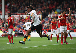 Abel Hernandez of Hull City celebrates scoring his sides first goal - Mandatory byline: Jack Phillips / JMP - 07966386802 - 3/10/2015 - FOOTBALL - The City Ground - Nottingham, Nottinghamshire - Nottingham Forest v Hull City - Sky Bet Championship