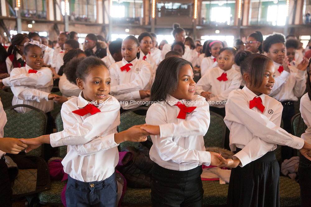 2/10/16 12:38:08 PM <br /> Chicago Children's Choir Black History Month Navy Pier Celebration. <br /> <br />  &copy; Todd Rosenberg Photography 2016