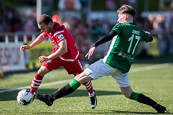 NEWTOWN, WALES - Sunday, May 6, 2018: Ryan Wignall of Connahs Quay Nomads competes with Matthew Jones of Aberystwyth Town during the FAW Welsh Cup Final between Aberystwyth Town and Connahs Quay Nomads at Latham Park. (Pic by Paul Greenwood/Propaganda)