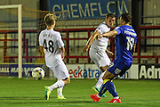 AFC Wimbledon midfielder David Fitzpatrick (19) during the EFL Trophy match between AFC Wimbledon and U23 Swansea City at the Cherry Red Records Stadium, Kingston, England on 30 August 2016. Photo by Stuart Butcher.