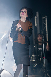 Alice Glass of Crystal Castles on the main stage, at Rockness, Friday 11th June..Pic ©2010 Michael Schofield. All Rights Reserved.