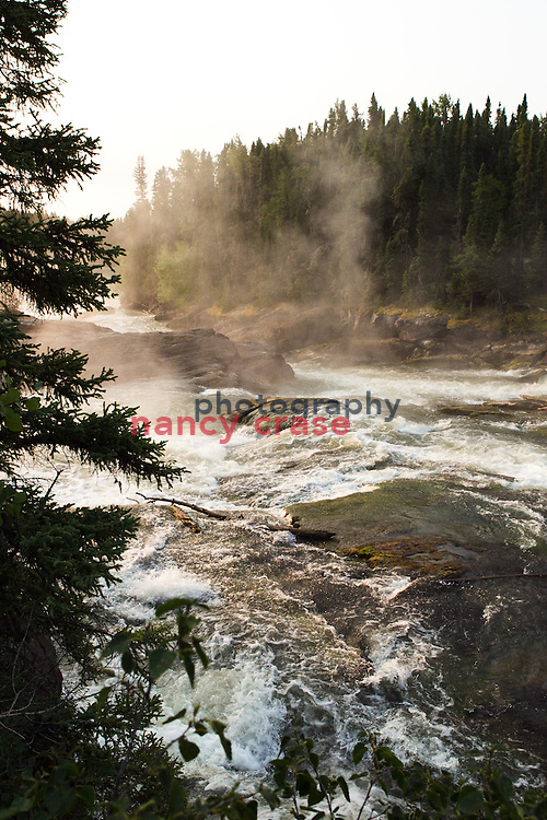 Whitewood Falls on the Grass River in northern Manitoba, Canada