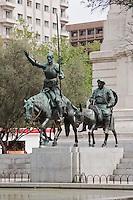 cervantes monument in plaza espana madrid