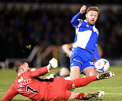Bristol Rovers' Matty Taylor in action against Gateshead - Photo mandatory by-line: Paul Knight/JMP - Mobile: 07966 386802 - 19/12/2014 - SPORT - Football - Bristol - The Memorial Stadium - Bristol Rovers v Gateshead - Vanarama Conference