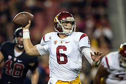 SANTA CLARA, CA - DECEMBER 05:  Quarterback Cody Kessler #6 of the USC Trojans passes against the Stanford Cardinal during the first quarter of the Pac-12 Championship game at Levi's Stadium on December 5, 2015 in Santa Clara, California. (Photo by Jason O. Watson/Getty Images) *** Local Caption *** Cody Kessler