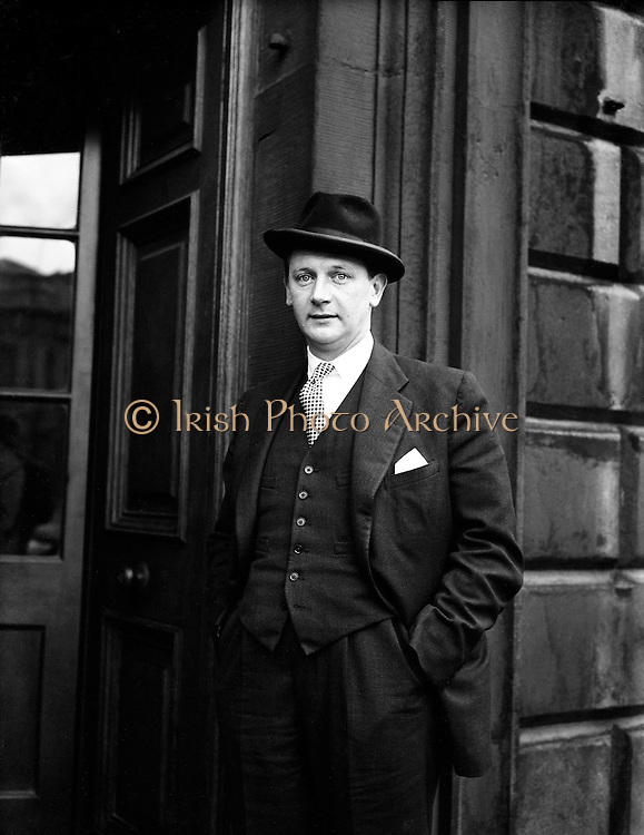 "16th Dail Reopens at Leinster House - Jack Lynch.20/03/1957..John Mary ""Jack"" Lynch (15 August 1917 - 20 October 1999) was the Taoiseach of Ireland, serving two terms in office; from 1966 to 1973 and 1977 to 1979..Lynch was first elected to Dáil Éireann as a Teachta Dála (TD) for Cork in 1948, and was re-elected at each general election until his retirement in 1981. He previously served as Minister for Finance (1965-1966), Minister for Industry and Commerce (1959-1965), Minister for Education (1957-1959), Minister for the Gaeltacht (1957) and as a Parliamentary Secretary. He was the third leader of Fianna Fáil from 1966 until 1979, succeeding the hugely influential Seán Lemass. Lynch was the last Fianna Fáil leader to secure (in 1977) an overall majority in the Dáil. Historian and journalist T. Ryle Dwyer has called him ""the most popular Irish politician since Daniel O'Connell."".Prior to his political career Lynch had a successful sporting career as a dual player of Gaelic games. He played hurling with his local club Glen Rovers and with the Cork senior inter-county team from 1936 until 1950. Lynch also played Gaelic football with his local club St. Nicholas' and with the Cork senior inter-county team from 1936 until 1946. He is widely regarded as one of the greatest dual players of all-time..In a senior inter-county hurling career that lasted for fourteen years he won five All-Ireland titles, seven Munster titles, three National Hurling League titles and seven Railway Cup titles. In a senior inter-county football career that lasted for ten years Lynch won one All-Ireland title, two Munster titles and one Railway Cup title. Lynch was later named at midfield on the GAA Hurling Team of the Century and the GAA Hurling Team of the Millennium."