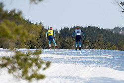 KOVALEVSKYI Anatolii Guide: MUKSHYN O, UKR, Long Distance Cross Country, 2015 IPC Nordic and Biathlon World Cup Finals, Surnadal, Norway
