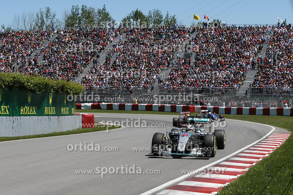 06.06.2015, Circuit Gilles Villeneuve, Montreal, CAN, FIA, Formel 1, Grand Prix von Kanada, Qualifying, im Bild Lewis Hamilton (GBR) Mercedes AMG F1 W06 // during Qualifyings of the Canadian Formula One Grand Prix at the Circuit Gilles Villeneuve in Montreal, Canada on 2015/06/06. EXPA Pictures &copy; 2015, PhotoCredit: EXPA/ Sutton Images/ Mirko Stange<br /> <br /> *****ATTENTION - for AUT, SLO, CRO, SRB, BIH, MAZ only*****