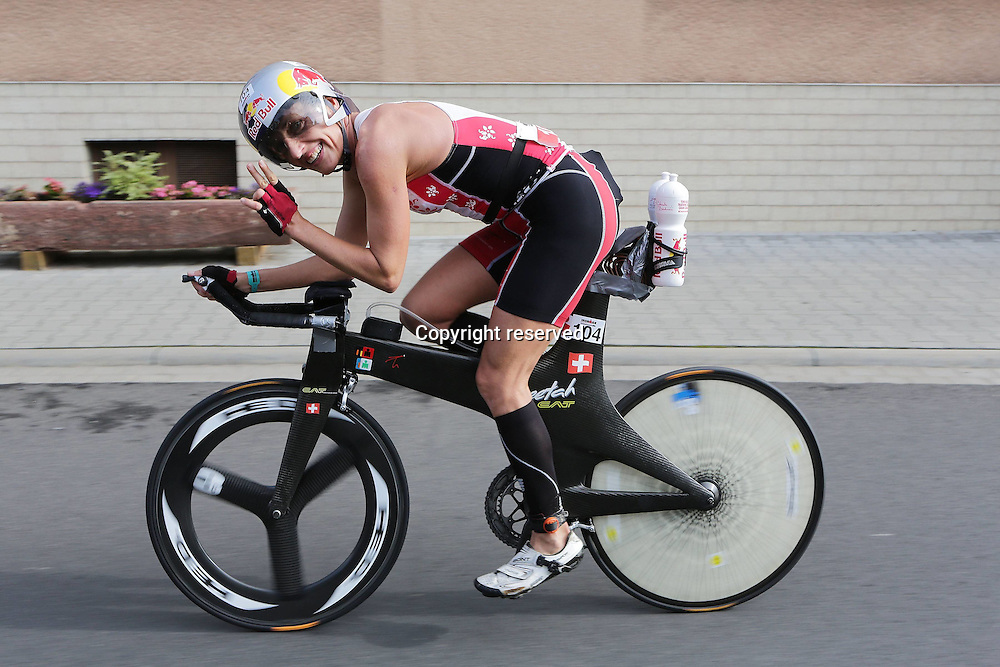 06.07.2014, Frankfurt, Germany. Ironman European Championships.  Natascha Badmann (SUI)