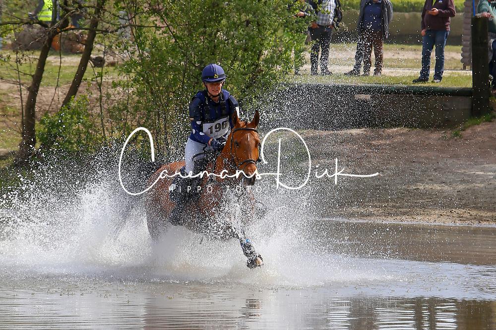 Wouters Annesjien, BEL, Cerida<br /> Nationale LRV-Eventingkampioenschap Ponies Minderhout 2017<br /> &copy; Hippo Foto - Kris Van Steen<br /> 30/04/17