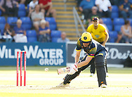 Glamorgan's Kieran Carlson in action today <br /> <br /> Photographer Simon King/Replay Images<br /> <br /> Vitality Blast T20 - Round 8 - Glamorgan v Gloucestershire - Friday 3rd August 2018 - Sophia Gardens - Cardiff<br /> <br /> World Copyright &copy; Replay Images . All rights reserved. info@replayimages.co.uk - http://replayimages.co.uk